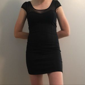 Divided by H&M Black Sheer Body-con Dress